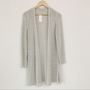 Eileen Fisher Organic Long Cardigan Open Front